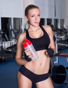 Woman enjoying protein shake recipes