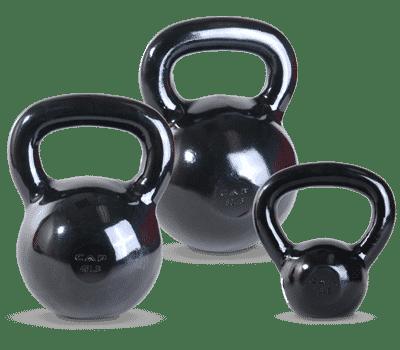 CAP Black Polished Kettlebells