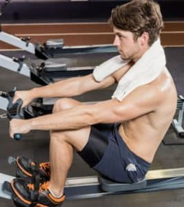 rowing machine featured man