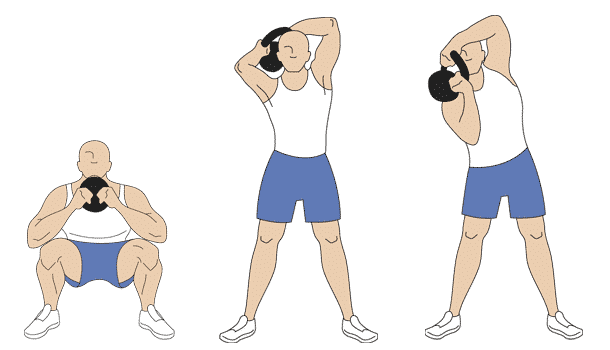 Kettlebell halo exercises step one