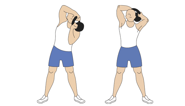 Kettlebell halo exercises step two
