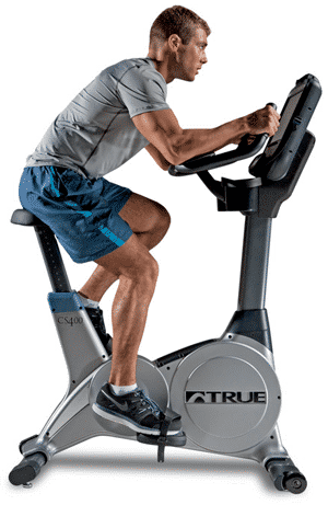 TRUE CS400 Upright Bike for HIIT workouts