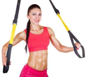 TRX training woman