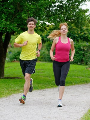 Running with a workout partner