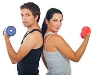 Weightlifting with a workout partner