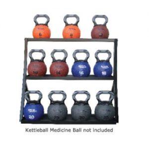 AeroMat Kettlebell Medicine Ball Rack