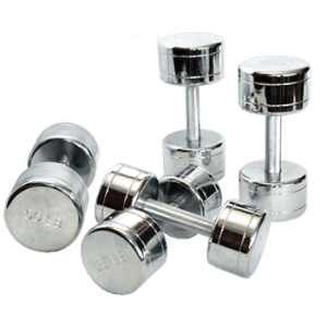 CAP Chromed Solid Dumbbells