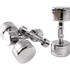 CAP Chromed Solid Dumbbells W/ Contoured Handles