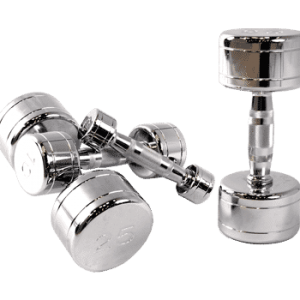 CAP Chromed Solid Dumbbells W/ Contoured Handles