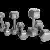 CAP Hexagon Gray Dumbbells