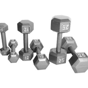 CAP Hexagon Gray Dumbbells