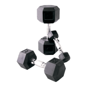 CAP Rubber Coated Dumbbells w/ Ergonomic Handles