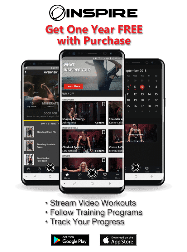 Inspire app free with purchase from RX Fitness