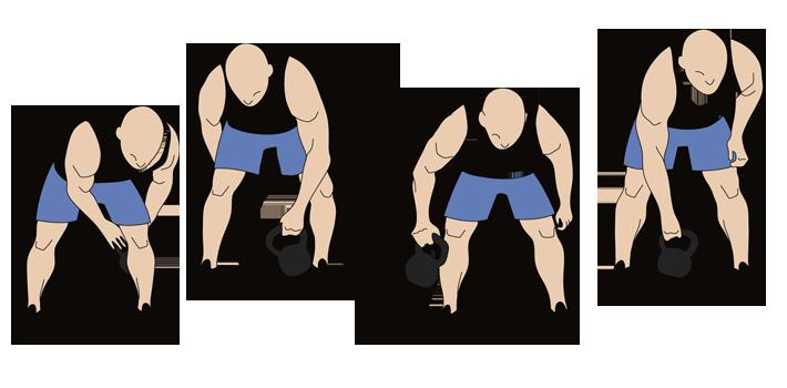 Kettlebell Figure Eight Exercise Steps