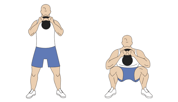 Kettlebell front squat exercises