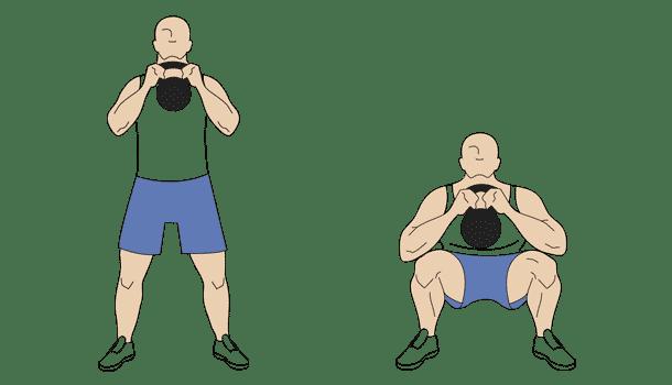 Kettlebell front squat exercises