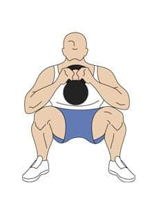 Kettlebell front squat featured