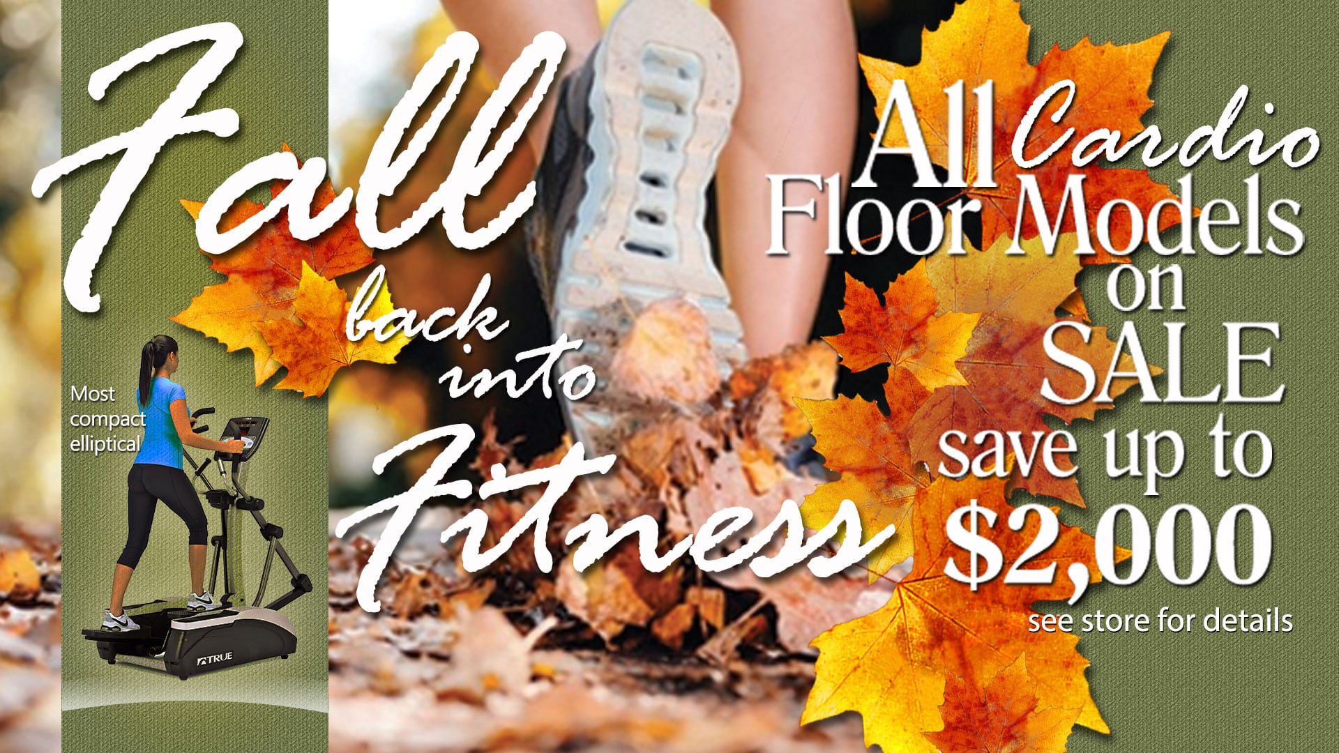 A Fall back into fitness cardio floor model sale
