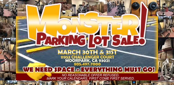 Monster Parking Lot Sale for 2019