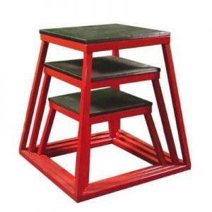 "Plyometric Platform Box Set- 12"", 18"", 24"" Red"