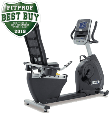 Spirit XBR55 semi recumbent bike