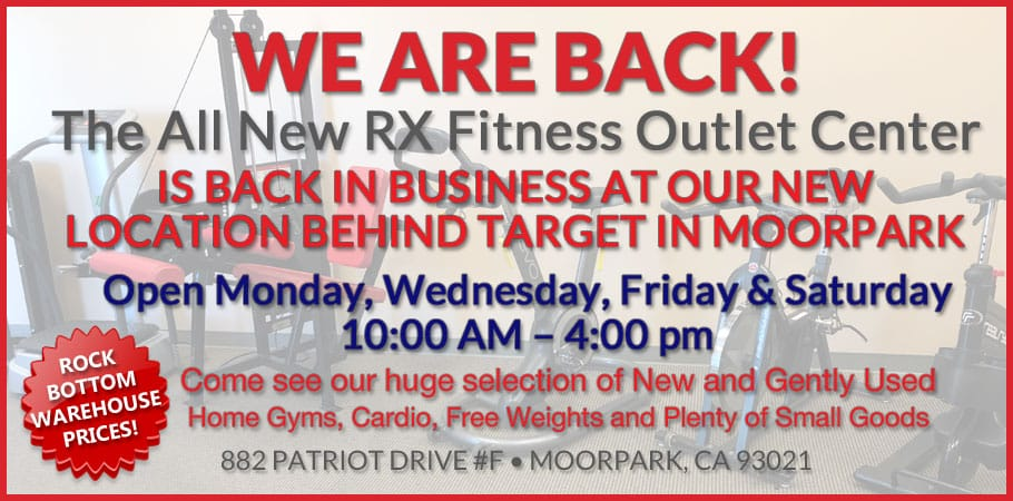RX Fitness Outlet Center is Back