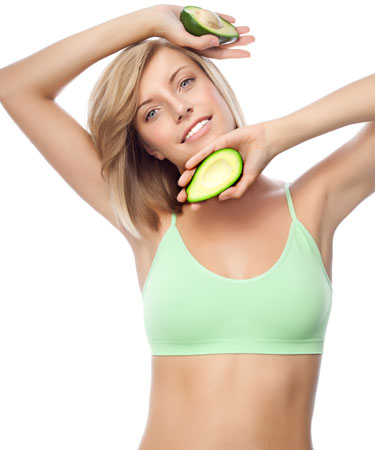 appetite suppressants woman with avocado