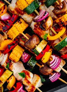 clean eating 4 vegetable kebabs featured