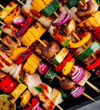 clean eating part 4 - vegetable kebabs