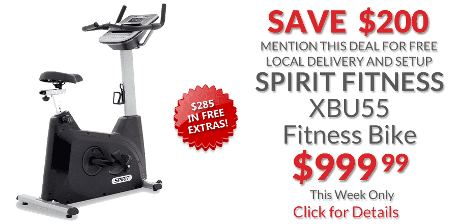 deal Spirit Fitness XBU55 Upright Bike
