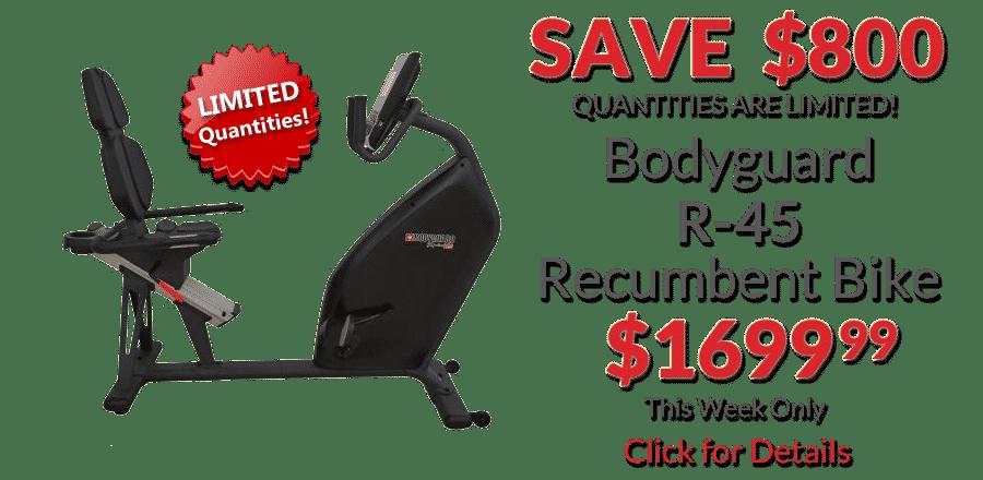 Bodyguard R-45 Recumbent Bike • Deal of the Week
