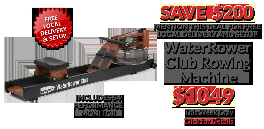 deal WaterRower Club Rowing Machine