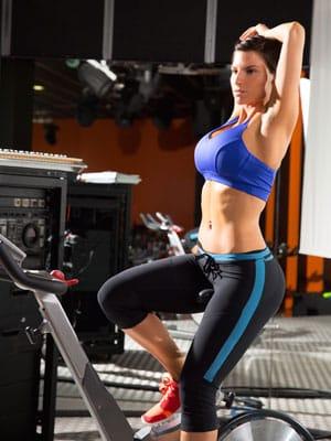 exercise bike woman