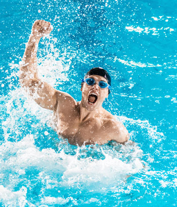 exercise excuse man in swimming pool