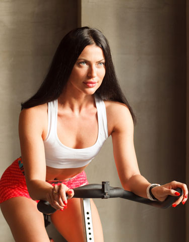 exercise excuse woman on bike