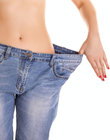 healthy weight loss woman jeans