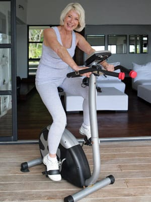 Home gym exercise bike