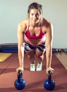 Kettlebell pushup with row featured