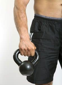 kettlebell rotating lunge
