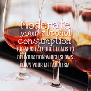 Weight loss plan – moderate alcohol consumption.