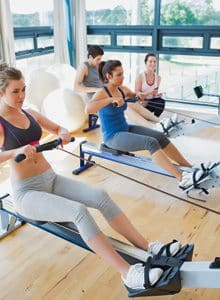 Rowing machine for a full-body workout