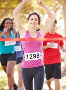 Running marathon woman