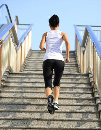 short workouts woman stairs