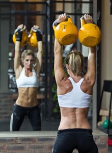 working out with kettlebells featured